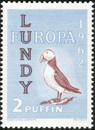 Una moneta di Lundy, in puffin